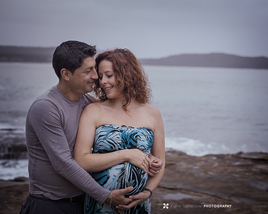 Cloudy maternity session South Durras