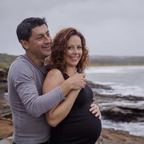Documenting their changing family this lovely couple had their maternity session at the lookout in South Durras
